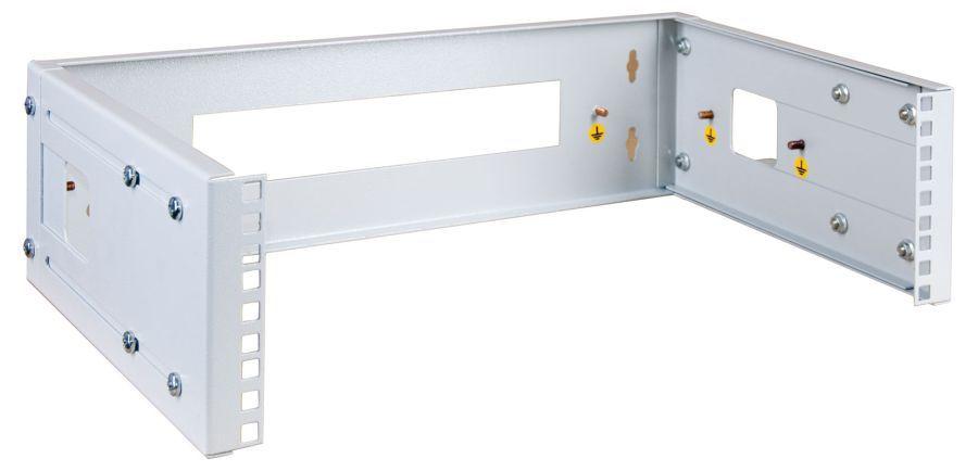 "Кронштейн телеком. ЦМО (КНО-М-3U) 3U 19"" 450мм нагр.:15кг серый (упак.:1шт)"