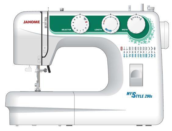 Швейная машина JANOME My Style 290S белый [ms-290s]