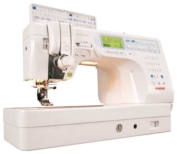 Швейная машина JANOME Memory Craft 6600P белый [mc-6600] janome memory craft 12000