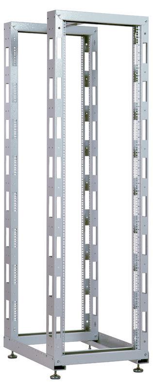 Стойка двухрамная ЦМО (СТК-24.2) 24U 620ммX800мм направл.закл.гайки 250кг серый
