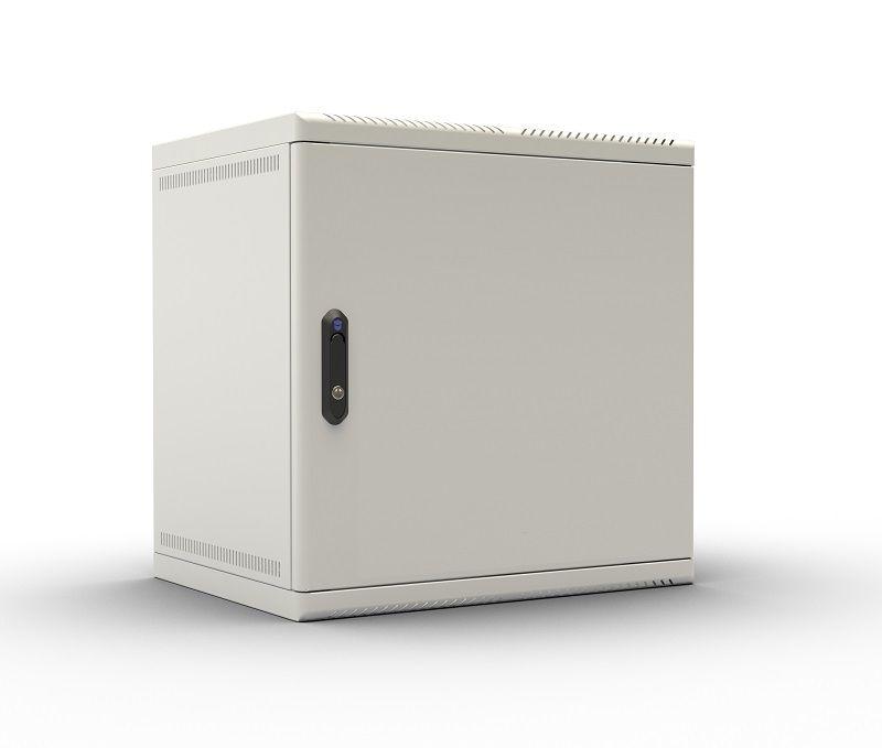 Шкаф коммутационный ЦМО (ШРН-9.480.1) 9U 600x480мм пер.дв.металл несъемн.бок.пан. 50кг серый