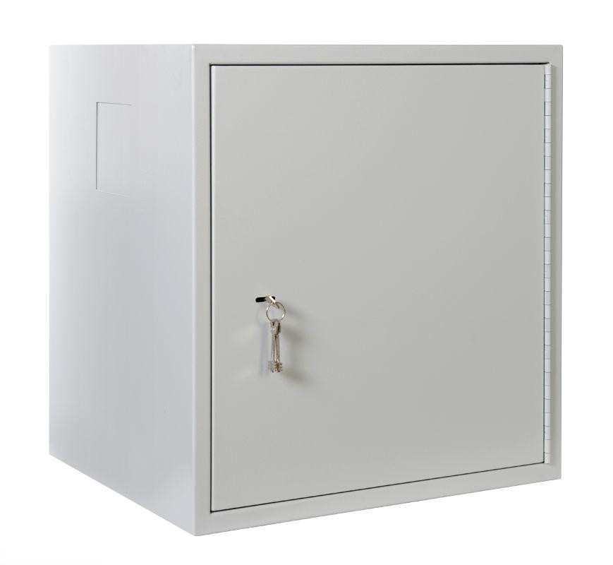 Шкаф настенный ЦМО Сейф (ШРН-А-12.520) 12U 600x525мм пер.дв.стал.лист несъемные бок.пан. серый