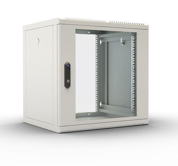 Шкаф настенный ЦМО (ШРН-М-12.500) 12U 600x520мм пер.дв.стекл съемные бок.пан. 50кг серый