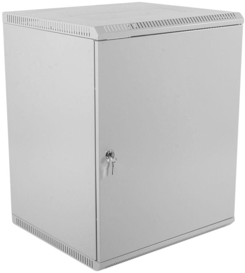 Шкаф коммутационный ЦМО (ШРН-Э-12.500.1) 12U 600x520мм пер.дв.стал.лист серый