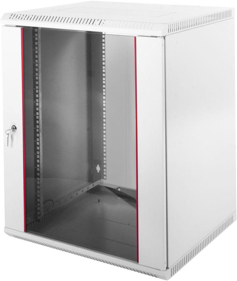 Шкаф коммутационный ЦМО (ШРН-Э-12.650) 12U 600x650мм пер.дв.стекл несъемн.бок.пан. серый