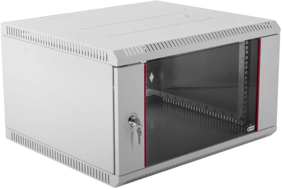 Шкаф коммутационный ЦМО (ШРН-Э-6.500) 6U 600x520мм пер.дв.стекл серый