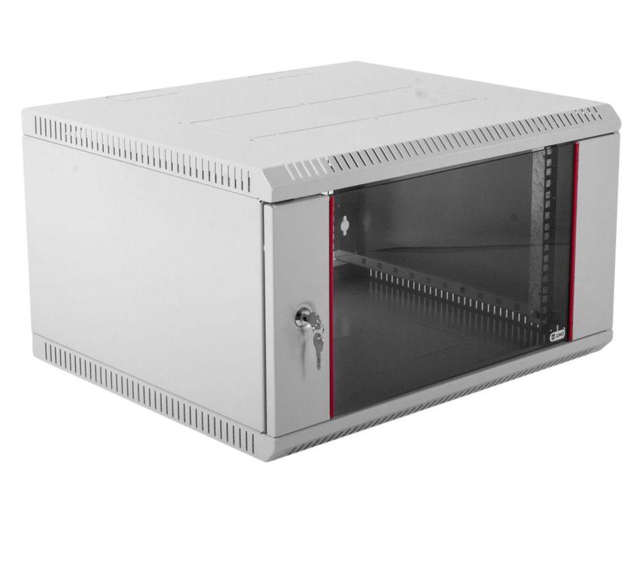 Шкаф настенный ЦМО (ШРН-Э-6.650) 6U 600x650мм пер.дв.стекл несъемные бок.пан. серый