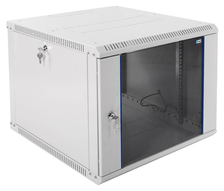 Шкаф настенный ЦМО (ШРН-Э-9.650) 9U 600x650мм пер.дв.стекл несъемные бок.пан. серый