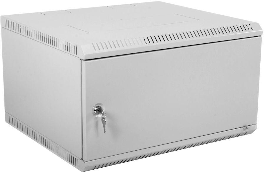 Шкаф коммутационный ЦМО (ШРН-Э-9.650.1) 9U 600x650мм пер.дв.стал.лист несъемн.бок.пан. серый