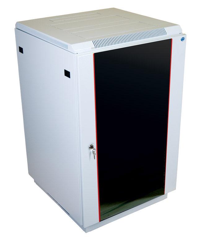 Шкаф коммутационный ЦМО (ШТК-М-18.6.8-1ААА) 18U 600x820мм пер.дв.стекл задн.дв.стал.лист 2 бок.пан.