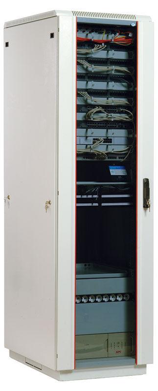 Шкаф коммутационный ЦМО (ШТК-М-33.6.8-1ААА) 33U 600x820мм пер.дв.стекл задн.дв.стал.лист 2 бок.пан.