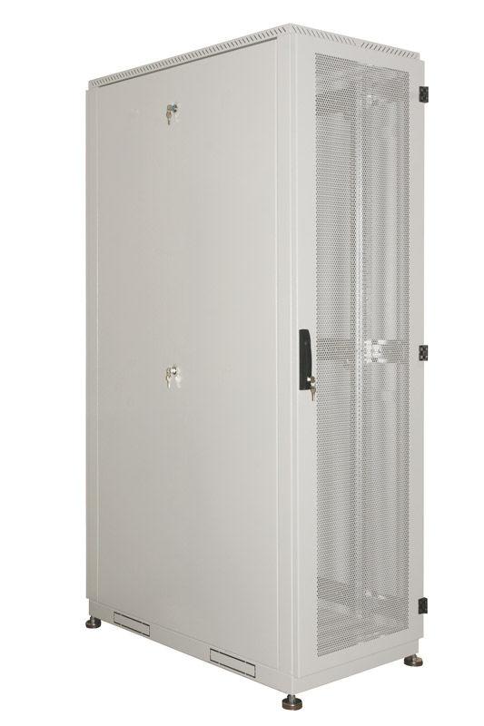 Шкаф серверный ЦМО (ШТК-С-42.6.10-44АА) 42U 600x1050мм пер.дв.перфор. 2 бок.пан. 1000кг серый