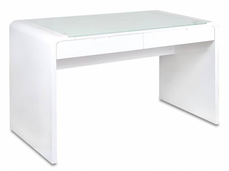 Стол компьютерный  БЮРОКРАТ DL-HG006,  стекло,  белый