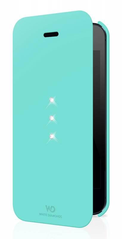 Чехол (флип-кейс) WHITE DIAMONDS Crystal Booklet, 1211TRI53, для Apple iPhone 5/5S, бирюзовый