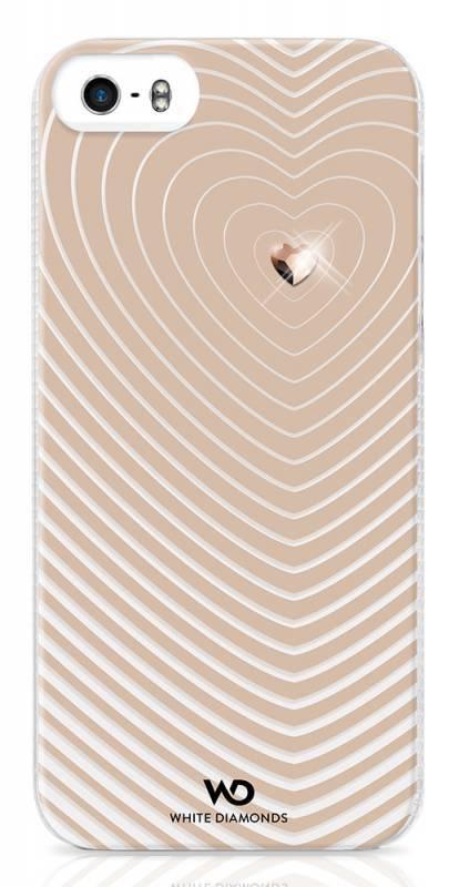 Чехол (клип-кейс) WHITE DIAMONDS Heartbeat, 1210HBT56, для Apple iPhone 5/5s, золотистый