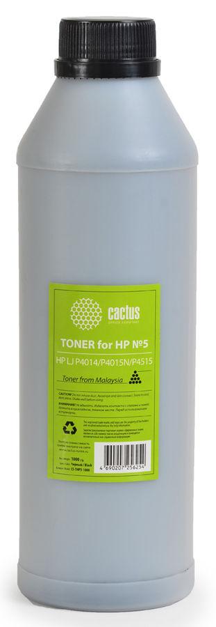 Тонер CACTUS CS-THP3-1000,  для HP LJ P2014/P2015/2030/2050/3005,  черный, 1000грамм, флакон