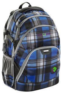 Рюкзак Coocazoo EvverClevver Deep Green Scottish Check синий/черный 00124772 отделение для ноутбука