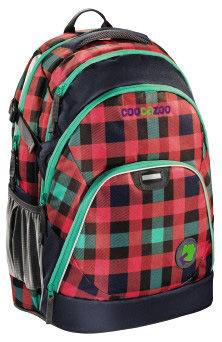 Рюкзак Coocazoo EvverClevver Checky Mint красный/черный 00119581 отделение для ноутбука 15.6`` (40 с