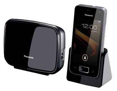 Радиотелефон PANASONIC KX-PRX120RUW,  черный и белый