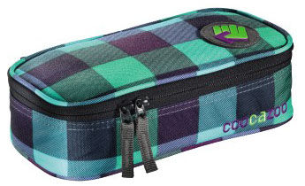 Пенал Coocazoo PencilDenzel Green Purple District зеленый/черный 00124808