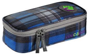 Пенал Coocazoo PencilDenzel Scottish Check синий/черный 00124807