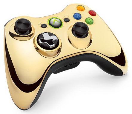 Беспроводной контроллер MICROSOFT Xbox 360, золотистый [43g-00055]