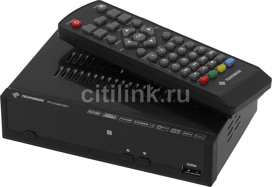 Ресивер DVB-T2 TELEFUNKEN TF-DVBT201,  черный [tf-dvbt201(черный)]