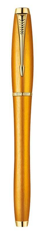 Ручка роллер Parker Urban Premium T205 Historical colors (1892653) Mandarin Yellow GT F черные черни