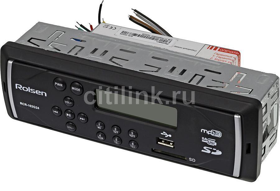 Автомагнитола ROLSEN RCR-102G24,  USB,  SD/MMC