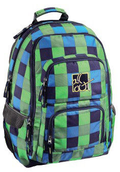 Рюкзак All Out Louth Pool Check зеленый/голубой клетка [00124835]