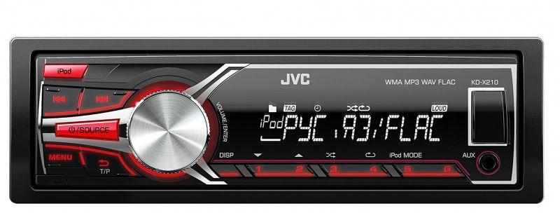 Автомагнитола JVC KD-X210EE,  USB