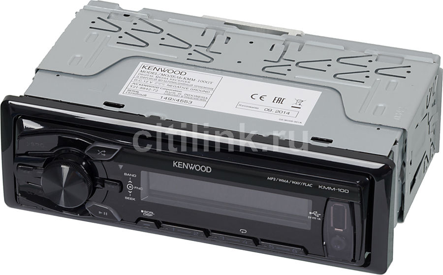 Автомагнитола KENWOOD KMM-100GY,  USB