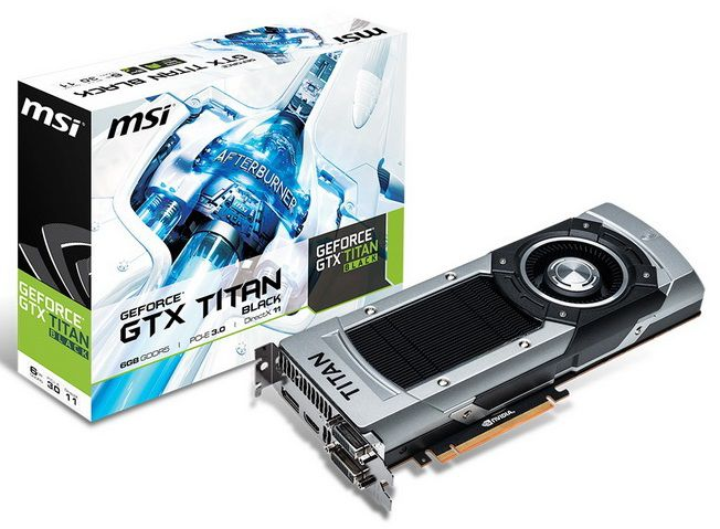 Видеокарта MSI GeForce GTX TITAN Black,  NTITAN Black 6GD5,  6Гб, GDDR5, Ret