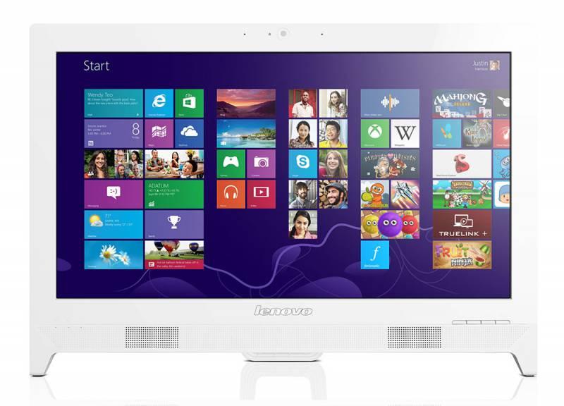 Моноблок LENOVO C260, Intel Pentium J2900, 4Гб, 500Гб, nVIDIA GeForce 705M - 1024 Мб, DVD-RW, Windows 8.1, белый [57325621]