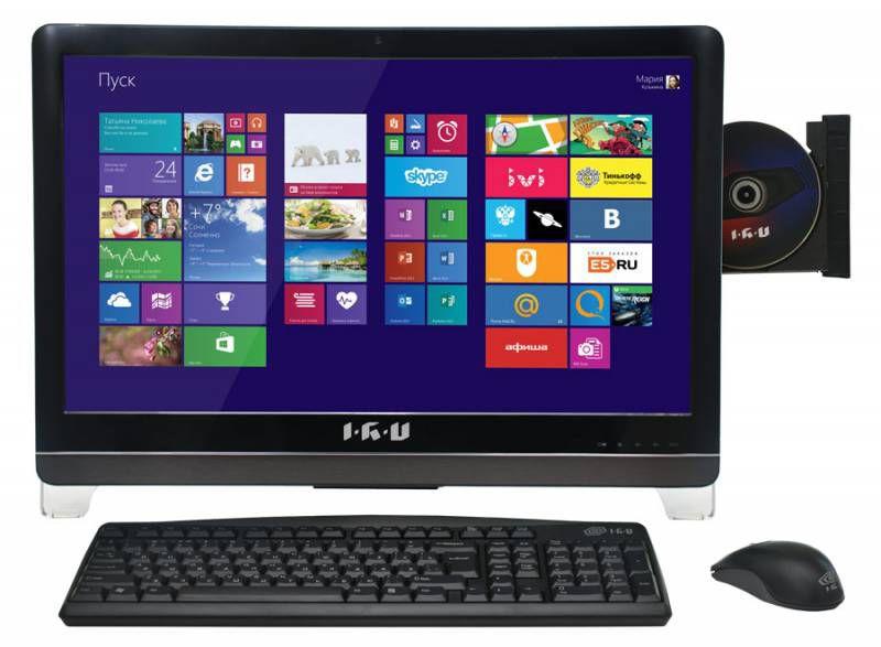 Моноблок IRU 309, Intel Pentium Dual-Core G3420, 4Гб, 500Гб, Intel HD Graphics, DVD-RW, Windows 7 Professional, черный [895241]