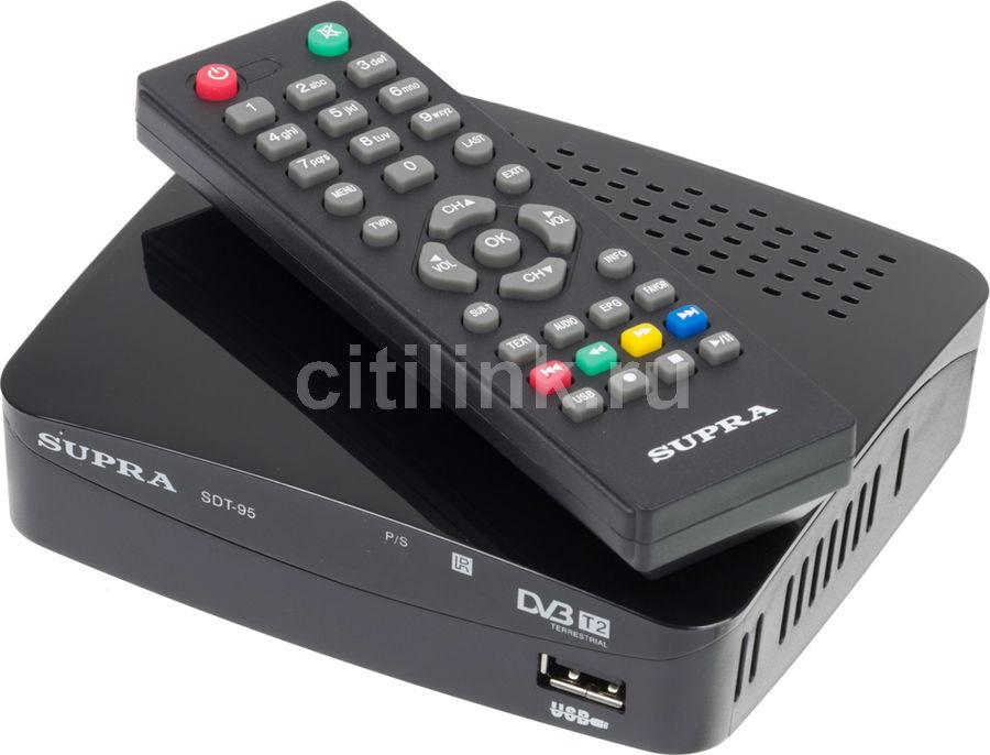 Ресивер DVB-T2 SUPRA SDT-95,  черный