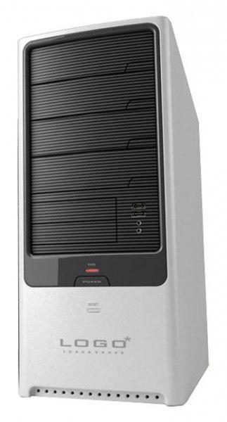 Корпус ATX FOXCONN TLA-882, 350Вт,  черный и серебристый