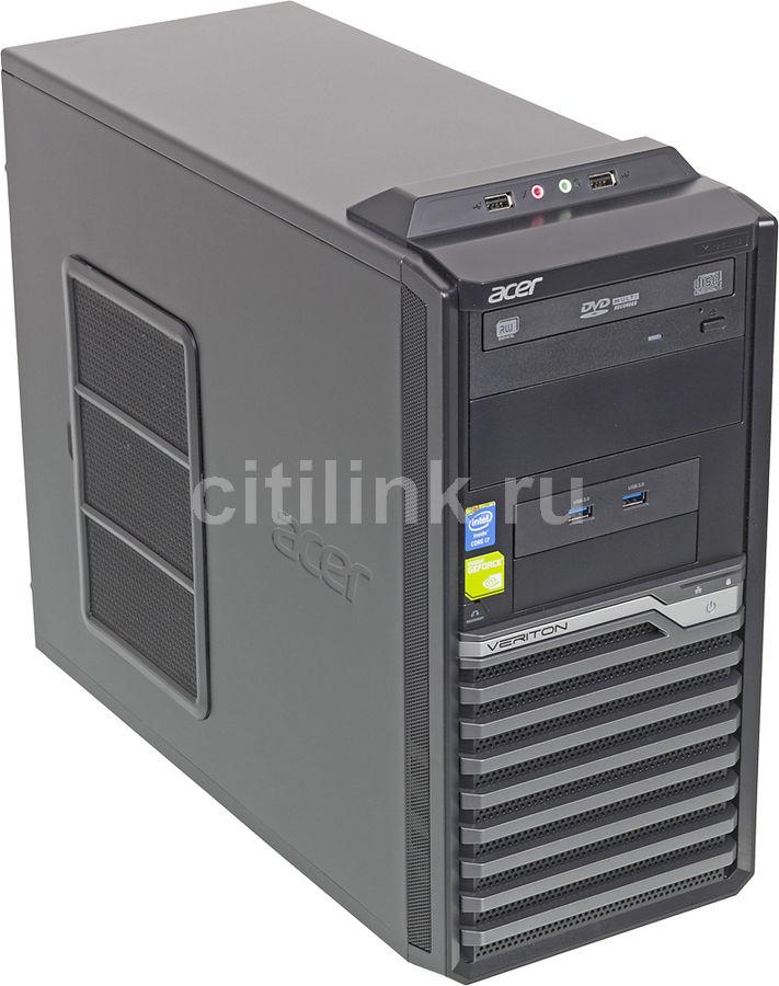 Рабочая станция  ACER Veriton M4630G,  Intel  Core i7  4770,  DDR3 8Гб, 1000Гб,  128Гб(SSD),  nVIDIA Quadro K600 - 1024 Мб,  DVD-RW,  Free DOS,  черный и серый [dt.vjeer.004]