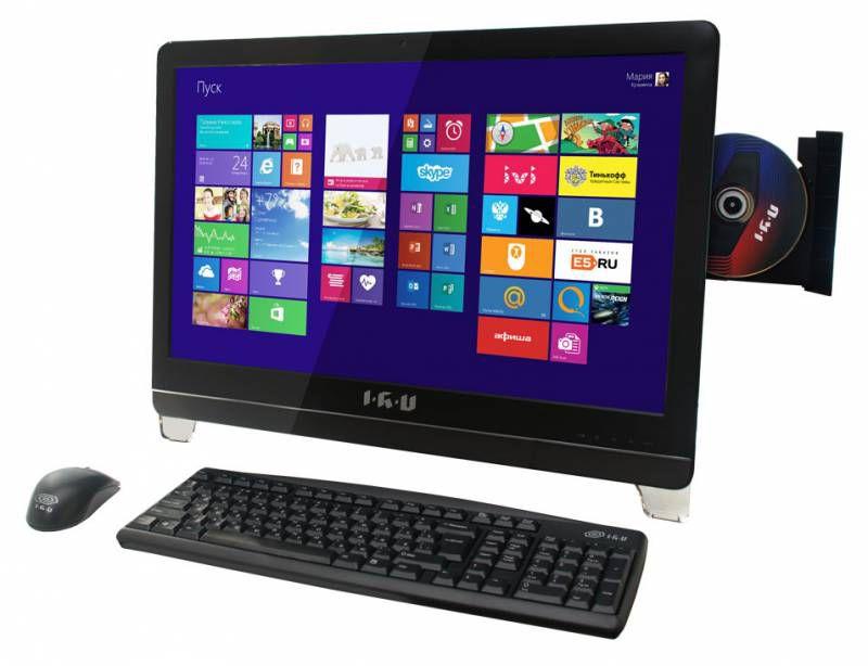 Моноблок IRU 310 K, Intel Pentium G3220, 4Гб, 500Гб, Intel GeForce GT740M - 1024 Мб, DVD-RW, Free DOS, черный