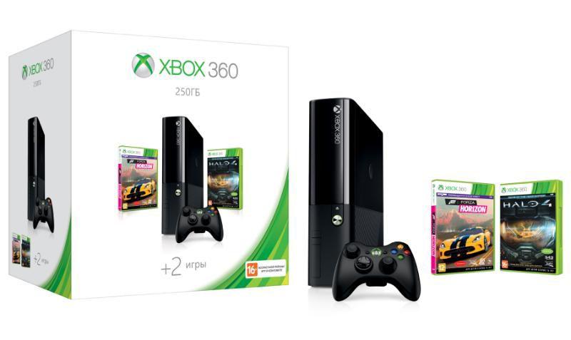 Игровая консоль MICROSOFT Xbox 360 E N2V-00121, черный