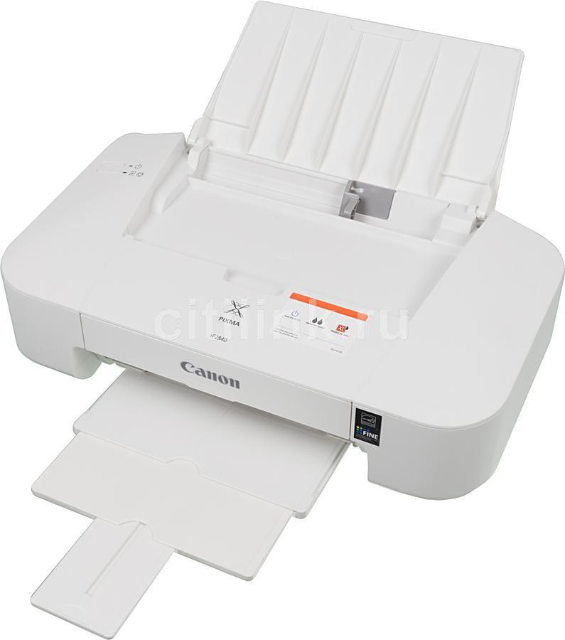 Принтер CANON PIXMA iP2840,  струйный, цвет: белый [8745b007]