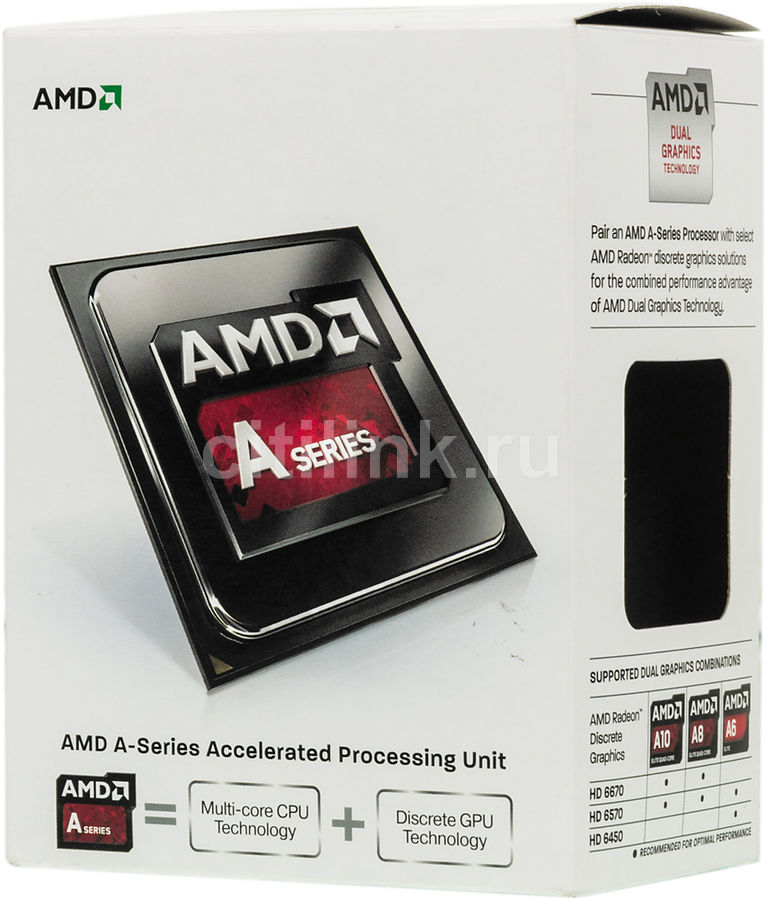 Процессор AMD A4 6300, SocketFM2 BOX [ad6300okhlbox]