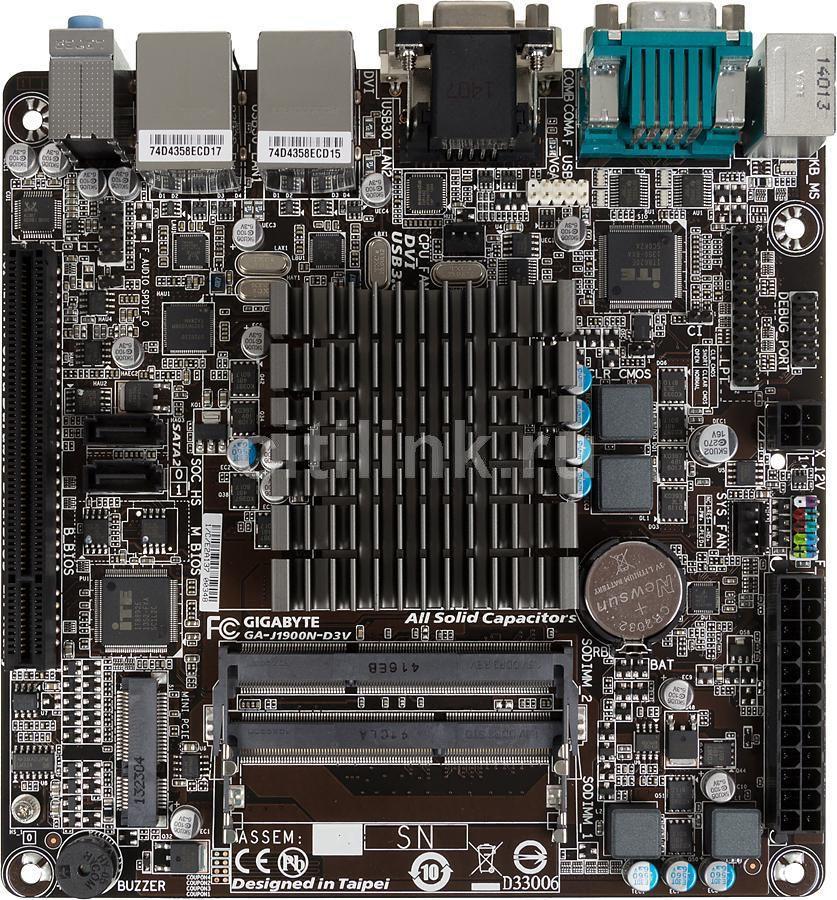 Материнская плата GIGABYTE GA-J1900N-D3V mini-ITX, Ret