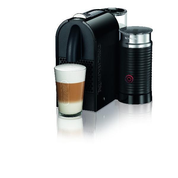 Капсульная кофеварка DELONGHI Nespresso UMilk EN210.BAE, 1260Вт, цвет: черный