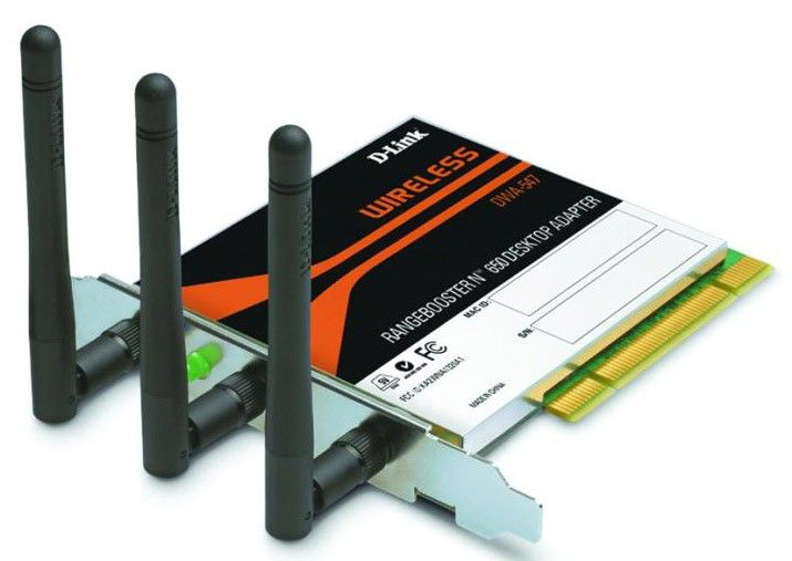 Сетевой адаптер WiFi D-LINK DWA-547/A3A PCI