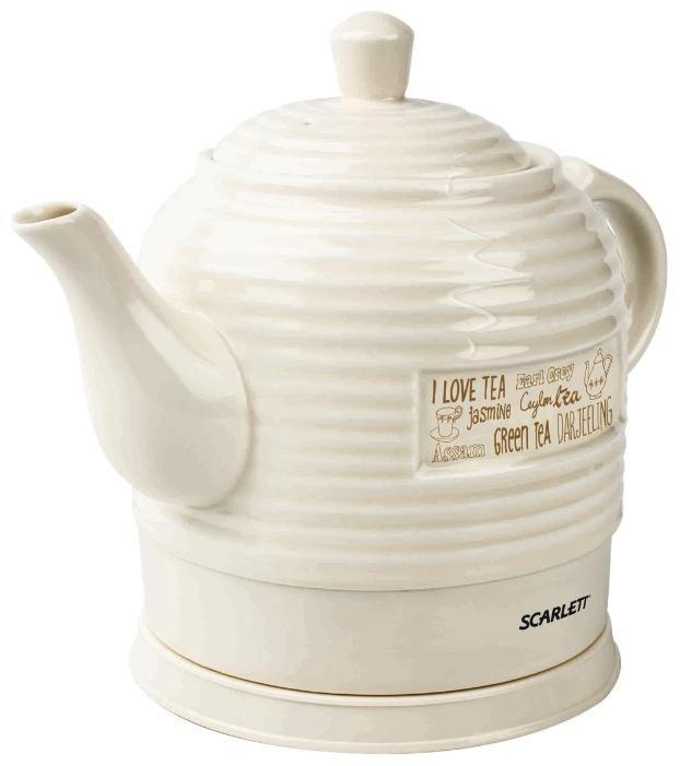 Чайник электрический SCARLETT SC-EK24C01, 1600Вт, белый