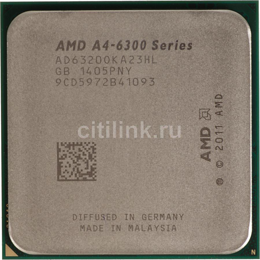Процессор AMD A4 6320, SocketFM2 OEM [ad6320oka23hl]