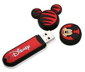 Флешка USB A-DATA Sport RB18 Disney Mickey 4Гб, USB2.0, красный и рисунок