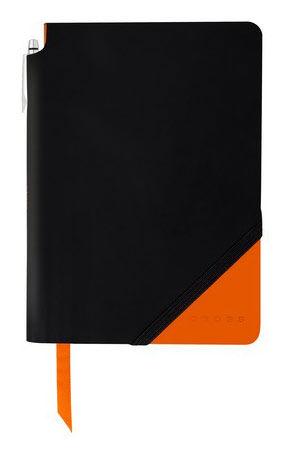 Записная книжка Cross Jot Zone (AC273-1M) черный/оранжевый 160стр. в линейку в компл.:ручка 21.6х15.