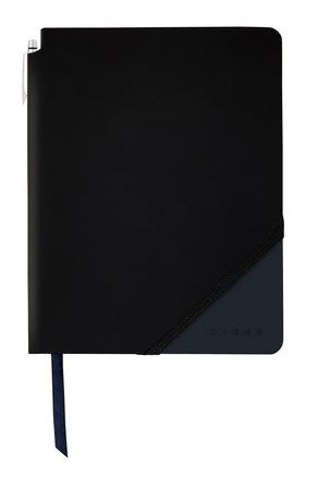 Записная книжка Cross Jot Zone (AC273-2S) черный/темно-синий 160стр. в линейку в компл.:ручка 14х12с